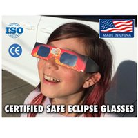 Wholesale Goggles Packages Wholesale - Paper Solar Eclipse Glasses Safe Solar Viewing Protect Your Eyes Safely View The Solar On August 21th - Retail OPP Bag Package By DHL