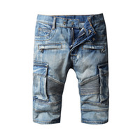 Wholesale Xs Model Hot - Wholesale- 2017 New Men Jeans Foreign Trade Hot Sell Is High In Arcade Models Cowboy Biker Jeans Washing Grinding White Male Denim Shorts