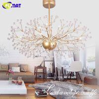 Wholesale Modern Floral Pendant Light - FUMAT Led Crystal Chandelier Floral French Lustre Chrome Glass Suspension Lamp Living Room Bed Room Modern Art Chandeliers