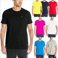 Wholesale Hot New T Shirt Designs - Hot Sale Summer New Men's clothing brand Top quality Tommy Embroidery design short sleeve Black leisure Cotton t shirt Men hip hop Tee