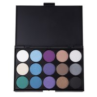 Wholesale Makeup For Blue Green Eyes - Wholesale- Natural 15 Colors Maquiagem Eye Shadow Palette Comestic Makeup Palette Long Lasting Makeup Eyeshadow Palette For Women