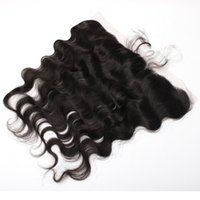Wholesale Lace Frontal Closure 13x2 - Ear To Ear Frontal 13x2' Body Wave Frontal Closure With Baby Hair Full Lace Frontal Closure Natural Color Hair