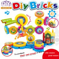 Hot Product Building Block Brinquedos infantis DIY Bricks Electric Music Blocks Plásticos Colorful Carton Windmill Type Assemblage Smart Block Set