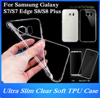 Wholesale galaxy s3 slim case - 20Pcs Ultra Slim Clear Soft TPU Case For Samsung Galaxy S7 Edge S3 S4 S5 S6 Edge S8 Plus Transparent Silicon Back Cover