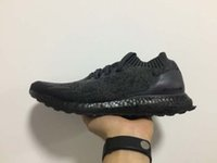 Wholesale nice 45 - 2017 Super Quality A+++ Black Soul Ultra Boost Uncaged Real Boost Triple Black UB Socks Shoes Nice Kicks Circa Knit Running Shoes 36-45