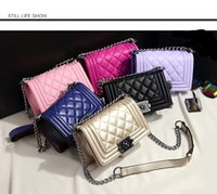 Wholesale Beaded Pewter - 2017 Fashion branded hand bag,classical metal lock,woman designer lady handbag custom mini shoulder bag leather bags PU leather,quilted