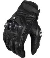 перчатки гонки для мотоциклов оптовых-Оптовая торговля-горячие модные повседневные мужские кожаные перчатки Afs6 мотоцикл защитные перчатки гонки по пересеченной местности перчатки