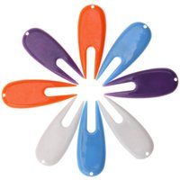 Wholesale Golf Divot Tool Wholesale - Wholesale- 8 Pcs Plastic Golf Ball Divot Tool Golf Pitch Fork Putting Green Repair Kit Golfer Training Accessories White Blue Purple Orange