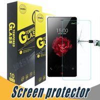 zte x al por mayor-Para ZTE Grand X Max Protector de pantalla de cristal templado Explosión 9H 2.5D Para ZTE Nubia Z9 Mini Z9 Max Z5s Mini Z7 Mini Z7 Max Star1