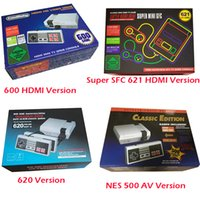 Wholesale Av Output - Hot Classic Mini TV Handheld Game Console Video Game Console 8 Bit Games with 500 600 620 621 Built-in Games HDMI AV Output Home Console