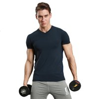 Wholesale Collared Sports Shirts - Leisure sports T-shirt v collar short-sleeved fitness fitness uniform running training clothes