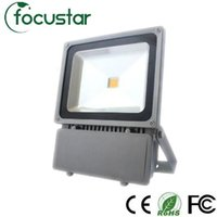 Discount led projection floodlights - Wholesale- DHL Free Shipping LED Flood Wash Light Landscape Projection black Waterproof 100W 85-265V outdoor bulb Led Floodlight Lamp