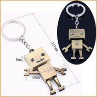 Wholesale Movable Plate - Hot Sale - Metal 3D Robot Key Chain Movable Keychain Key Ring Key Holder Bag Car Pendant