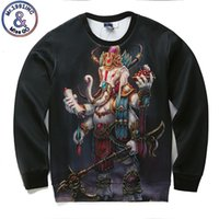 Wholesale God Elephant - Hip Hop New Men Women 3d Sweatshirt Funny Print Religion Elephant God Geneisha Ganesh Hoodies Autumn Winter Tops Hoodies