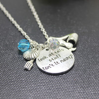 Wholesale Little Mermaid Charms - New arrival 12pcs lot Little Mermaid Necklace Ariel Inspired. Look at this stuff isn't it neat?. The Little Mermaid necklace gift.