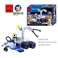 Wholesale Enlighten Space Series - Wholesale- 59pcs Enlighten Star Exploring Vehicle Space Series Blocks Toy NO.508 Plastic Blocks Small Models & Building Toy