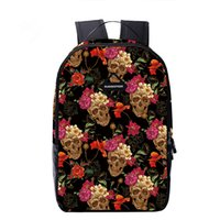 Women spiritual people - 2017 rucksacks young peoples spiritual pollution full of rose skulls printed cool casual high quanlity bags travellers cool backpacks