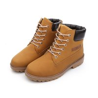 Wholesale Tooling Boots Fashion - Wholesale-2016 Fashion Casual Men Women Boots Autumn Winter Suede Tooling Snow boot Leather Couples Martin zapatos mujer Big Size 36-46