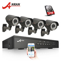 nvr 264 оптовых-ANRAN подключи и играй 4CH 48V NVR POE система видеонаблюдения Onvif 1080P HD H. 264 Varifocal 2.8 mm-12mm ИК видеонаблюдения POE IP-камера