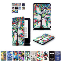 Wholesale Ebook Kindle Cover - Wholesale- Luxury Art pattern For new kindle 2016 8th generation ebook smart PU leather case ultra slim thin cover for 2016 new kindle 8th
