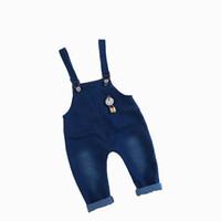 брюки для мальчиков мужские оптовых-Детские нагрудник брюки мальчики девочки нагрудник брюки для детей комбинезоны Подтяжк брюки Детские джинсы брюки детские комбинезон Детская одежда
