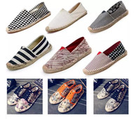Wholesale Flax Straw - Fisherman shoes New products in 2017 Straw Flax sole Canvas shoe Weave Single shoes Shoes for men and women 35-45 Wholesale sales