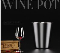 Wholesale Glass Pot Cup - Hot Sale Outdoor Portable Stainless Steel Hip Flask Cup 30ML Hip Flask Special Glasses Flagon Wine Pot Cup