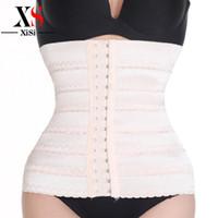Wholesale Tummy Tuck Body Shaper - Wholesale- New womens waist trainer corsets to reduce weight shapewear slimming underwear body shaper bodysuit women tummy tuck belt