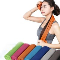 Wholesale dual scarf - 2017 Cool towel Summer cooling towels dual layer sports outdoor ice cold scaft scarves Pad quick dry washcloth necessity for Fitness Yoga