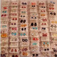 Wholesale Jewelled Earrings - 100 styles free long earrings fully jewelled Rotating drop earrings for women gold silver plated love earings fashion SHEEGIOR Accessories
