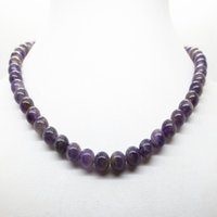 Wholesale Magnetic Clasp Mm - Wholesale- Natural amethyst necklace magnetic clasp 8 MM semi precious stone round beads wedding jewelry for women colar collar amatista