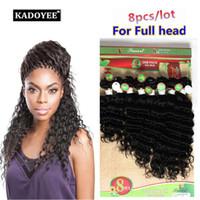 Wholesale Human Hair Weave Bulk - 100% human 8pcs lot curly hair Ombre Blonde BUG Brazilian bulk Kinky loose deep wave hairpeices customized ombre two tone braids