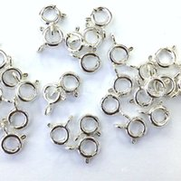 Wholesale Sterling Silver Wholesale Connector - 8mm 925 Sterling Silver Jewelry Accessories Necklace Bracelet Lobster Clasps Hooks Connector Charms with 925 Stamp