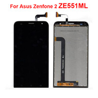 asus brand achat en gros de-100% neuf pour Asus Zenfone 2 ZE551ML Full Lcd Display Touch Screen Digitizer Ensemble Remplacement complet