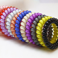 Wholesale Telephone Wire Band - Wholesale- 3PCS Kids Tie Hairband Accessories Hair Rubber Rope Bands Telephone Wire Line Gum For Hair Ring Beauty Baby Headband For Women