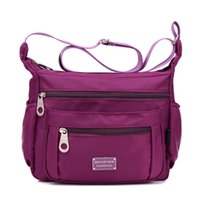 Crossbody Purse for Women, Bolsa de ombro ajustável w / Multiple Zippered Elastic Pockets + Organizer for Wallet, Passport