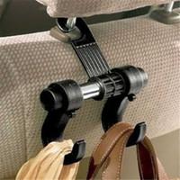 Wholesale Car Hook Holders Hangers - Wholesale- 0 1Pcs Convenient Car Seat 2 Hooks Plastic Hanger Purse Shopping Bag Organizer Holder