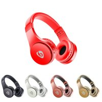 Wholesale Playing Lead - S55 Wireless Headphones Bluetooth Gaming Headset Stereo Foldable Earphone With Mic LED Light Long Time Playing Retail Package VS Marshall