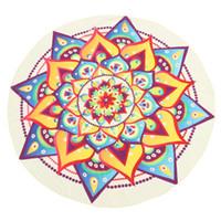 estampado de chifón pavo real al por mayor-145 cm Hermosa Estampado de Gasa Ronda Peacock Impresión Mandala Tapicería Toalla de Playa Alfombra Manta de Yoga Estera