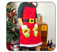Wholesale Supermarket Supplies - Christmas Apron Christmas Kitchen Cook Apron Free Size Restaurant Supermarket Christmas Uniform Xmas Decor Supplies Tools