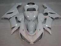 kit de cuerpo blanco kawasaki zx6r al por mayor-Kits de cuerpo completo ZX6r 636 2005 Kits de cuerpo para Kawasaki ZX6r 2006 Carenados de plástico blanco 636 ZX-6r 06 2005 - 2006