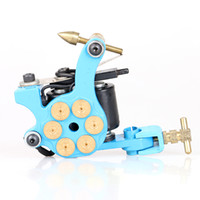 Wholesale Copper Coil Sales - Hot Sales Free Shipping Tattoo Machine 10 Wrap Coils Tattoo Blue Color Gun High Quality Tattoo Supply TM2383