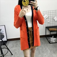 Wholesale British Navy Coat - Women's Knit cardigan British style twist short in front sweater girl coat early autumn Gray Navy-blue Red (Free size)