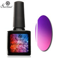 Wholesale Uv Gel Thermo Color - Wholesale- Saviland 1Pcs Promotion UV Gel Thermo Lacquer Soak Off Nail Primer Temperature Change Color UV Gel Nail Polish 10ml