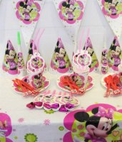 Wholesale sets of suits Birthday Theme Package Children party People Package Party Tableware Decoration Party Minnie cartoon