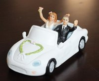 Wholesale Dolls Married - Resin doll car Just Married Cake Topper Wedding Decorations Romantic Touching Story Telling Wedding Cake Decorations 2016 May Style