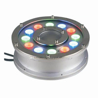 Wholesale Led Pool Fountain Lights - Underwater Fountain Light RGB LED 6W 9W 12W 15W 18W IP68 LED light swimming pool Lamps LED fountain lights with RF remote Controller