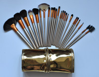 Wholesale Gold 24 Set - HOT Makeup Brushes 24 piece Professional Brush sets Nude 3 + gold package+gift