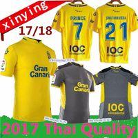 Wholesale Prince Homes - Free shipping 2017 2018 Las Palmas home away Soccer Jersey 17 18 PRINCE JESE VALERON Football jerseys Thai quality Shirt
