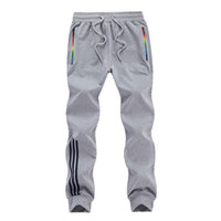 Wholesale Bottoming Pencil Pants - Big Size 5XL 2017 Fashion Leisure Tracksuit Bottoms Mens Sport Running Sweatpants Mens Striped 100%Cotton Joggers Breathable Pants